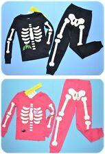 NWT Gymboree SKELETON Halloween Costume 2013 Pajamas/Gymmies Glow-In-The-Dark