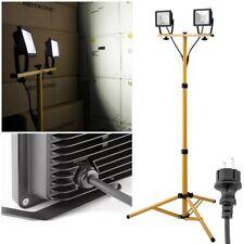 40W LED Außen-Baustrahler Teleskop-Stativ 230V Flutlichtstrahler Baustellenlampe