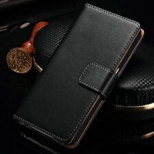 Sony Xperia Echtes Leder Tasche Hülle Schutz Zubehör Brieftasche Schale Cover