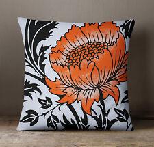 S4Sassy décoratif hors Floral imprimé Throw Pillow housse de coussin blanc