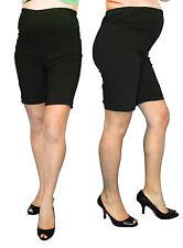 Black Maternity Pregnancy Shorts Womens Bottoms Mini Summer S M L XL
