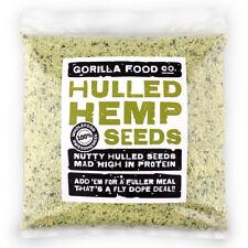 Gorilla Food Co. Organic Hulled (Shelled) Hemp Seeds - 100g-3.2kg