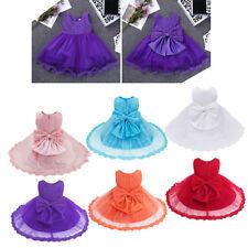 Girls Princess Pageant Lace Dress Toddler Baby Wedding Party Flower Tutu Dress