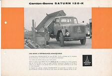 MAGIRUS Deutz Saturn 120 K PROSPEKT 1/61 F brochure dissociata benne CAMION 1961