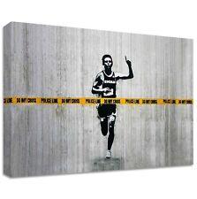 Dolk Police Line Canvas | LARGE WALL ART | street graffiti do not cross