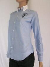 Ralph Lauren Blue Oxford Blouse/Tennis Crest Size 8 NWT