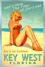 KEY WEST Florida New Caribbean Sea Shore Ocean Beach Poster Pin Up Art Print 205