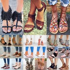 Damen Sandaletten Sommer Urlaub Peep Toe Pumps Sandalen Schuhe Flats Größe 36-43