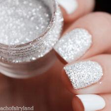 10ml/box Nagel Glitter Tips Weiß Silber 1mm & 2mm & 3mm Nail Dekoration