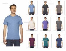 American Apparel Unisex Triblend Track T-Shirt Men's or Ladies Tee TR401W XS-2XL