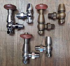 Traditional Antique Thermostatic Radiator Valves for Cast Iron Rads TRV Set CHRV