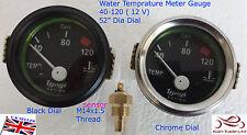 52 mm Coche Vintage UNIVERSAL Medidor Agua Temperatura Motor Puntero 40-120?