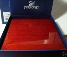 Swarovski Silver Crystal Pin-Wooden Collector Box Rare!