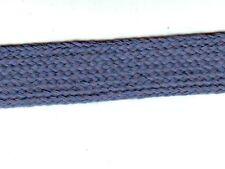 1 m Tresse souple Coton Plate Bleu  * 24 mm Galon ruban mercerie couture métrage