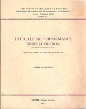 L'Echelle de Performance Borelli Oleron - Enfants Sourds 4 à 9 ans GILLE LENOBLE