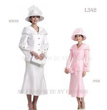 New Lynda's 3pc Women Dress, Church Skirt Suits Sets L-342