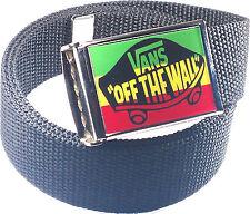 Vans Rasta Belt Buckle Bottle Opener Adjustable Web Belt