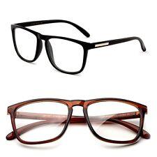 Nerdy Squared Clear Lens Non Prescription Horned Rim Frame Unisex Glasses
