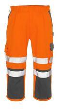 "MASCOT Natal 3/4 Length work Trousers HI VIS ORANGE REFLECTIVE NEW Waist 44"""