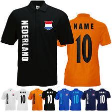 WM 2018 Niederlande NEDERLAND Polo-Shirt Trikot Name Nummer