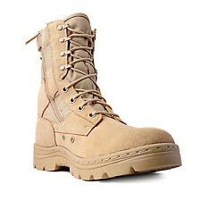 "Ridge Footwear 8"" Men's Dura-Max Side Zipper Sand Tactical Military Boots"