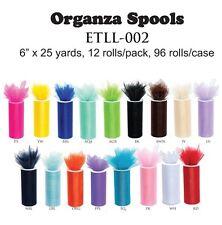 Organza Spool Roll, 6-Inch, 25 Yards