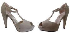 Sandalo Decoltè Scarpa Tacco Alto Beige High Heels Woman Shoes ,ballo, cerimonia