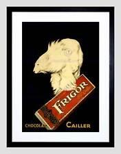 ADVERT FOOD CHOCOLATE FRIGOR POLAR BEAR PARIS FRANCE FRAMED ART PRINT B12X3136