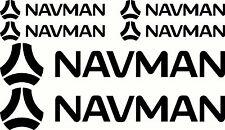 Navman Fishing Boat Stick Sticker Decal Marine Set of 6
