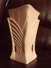 """Vintage Mccoy Art Deco 9"""" Pink glass finish Vase"""