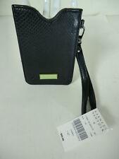 Deux Lux granulado PVC tarjeta teléfono iPhone Droid PDA Soporte Pulsera BLK NWT