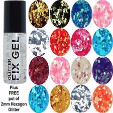 Stargazer - Fix Gel Fixative Body Glue -  plus FREE pot of 2mm HEXAGON GLITTER
