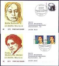 BRD 1996: Frauen! Europamarken-FDC Nr. 1854+1855! Bonner Stempel! Gelaufen! 1705