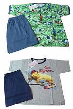 Pijamas Niño corto. 100% algodón. CUPIDO. 2 fantasías. Pantalones cortos+