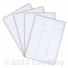 White A4 Inkjet Laser Sheets Self Adhesive Sticky Address Labels 65 x 38mm 21 up