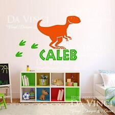 Dinosaur Boy Personalized Custom Name Paws Vinyl Decal Sticker Decor E