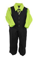 Infantil 4 PIEZAS CAMISETA & Pantalones Set Lima Camisa / Negro W/ Matchng