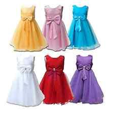 Big Bow Formal Flower Girls Dresses Bridesmaid Party Girls Dress Wedding Dress