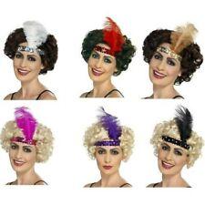 Women's Roaring 20's Flapper Feather Gatsby Headband Fancy Dress Accessory