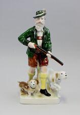 Porzellan Figur Jäger mit 2 Hunden Gräfenthal Thüringen 9943073