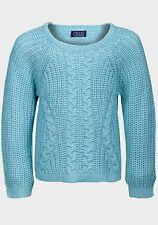 MINOTI girls kids childs warm chunky knit crop jumper sweater 12-18 2-3-4 years