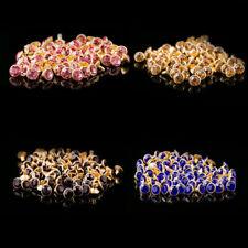 8mm Diamante Crystal Rivets Studs Stud Leather Bags Shoe Punk Biker Fashion Goth