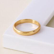 "9ct 9K Yellow ""Gold Filled""Men Girl Plain Wedding Band Ring All Sizes.W=3mm,2112"