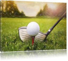 Golf Abschlag Bunstift Effekt Leinwandbild Wanddeko Kunstdruck