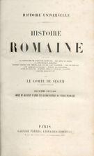 HISTOIRE ROMAINE par LE COMTE DE SÉGUR - Fin XIXe