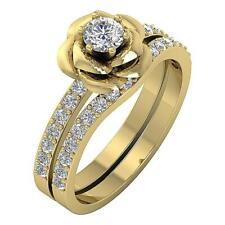 Designer Bridal Wedding Ring Natural Diamond SI1 G 1.10 Ct Yellow Gold 10.00 mm