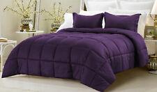 Down Alternative Comforter Egyptian Cotton 200 GSM US Sizes Color Purple Stripe