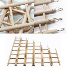 3/4/5/6/7/8 Rung Wooden Ladder Parrot Pet Bird Chew Cages Hang Toys Supplies