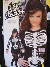 Skelett Kinderkostüm Kostüm für Kinder S M L 128 140 158  Halloween Karneval NEU