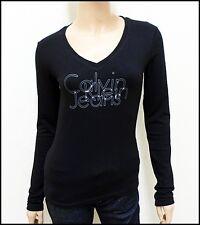T shirt Calvin Klein femme noir manche longue CWP45J, Taille S M L